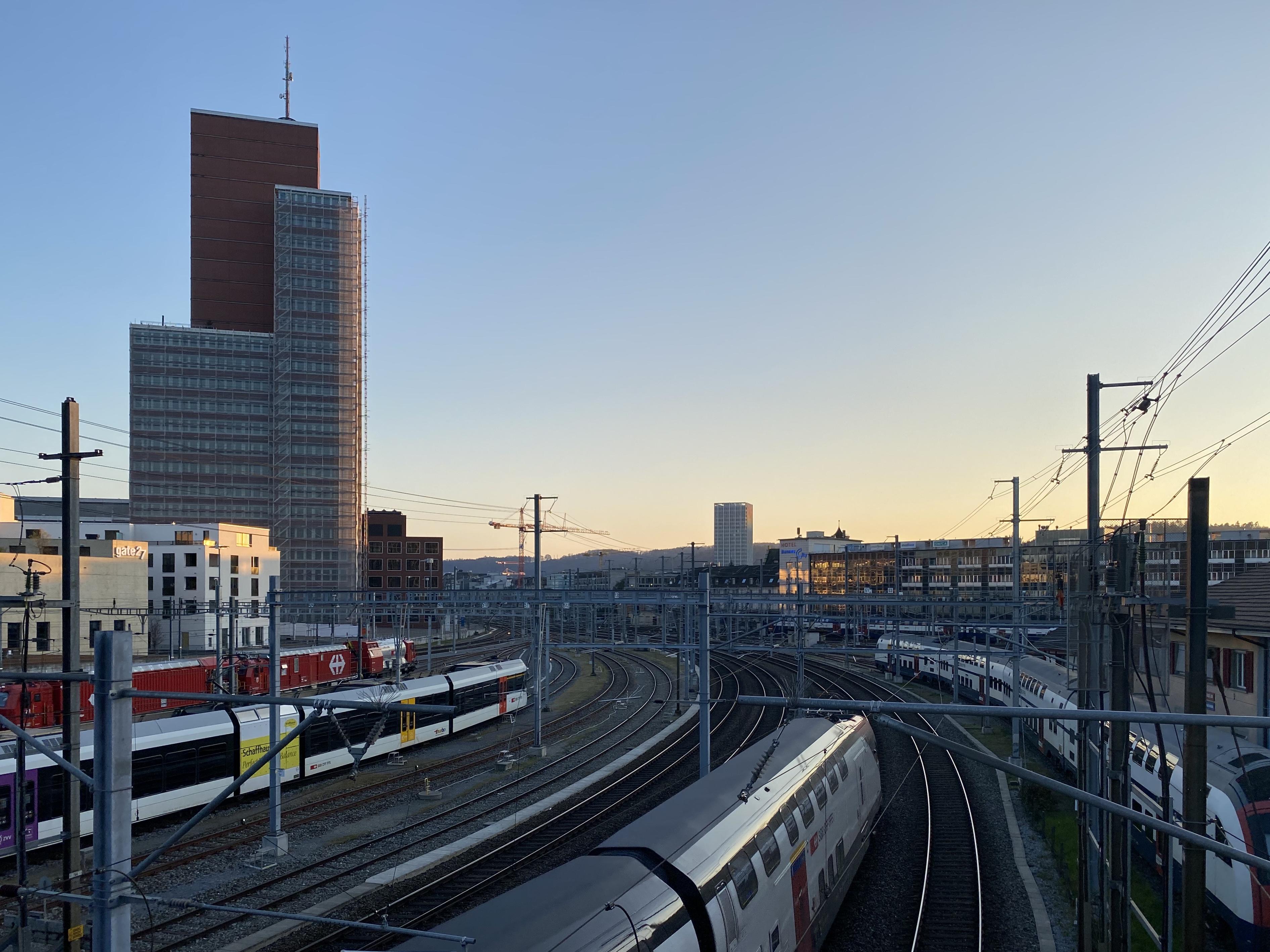 Winterthur: Roter Turm bleibt eingerüstet